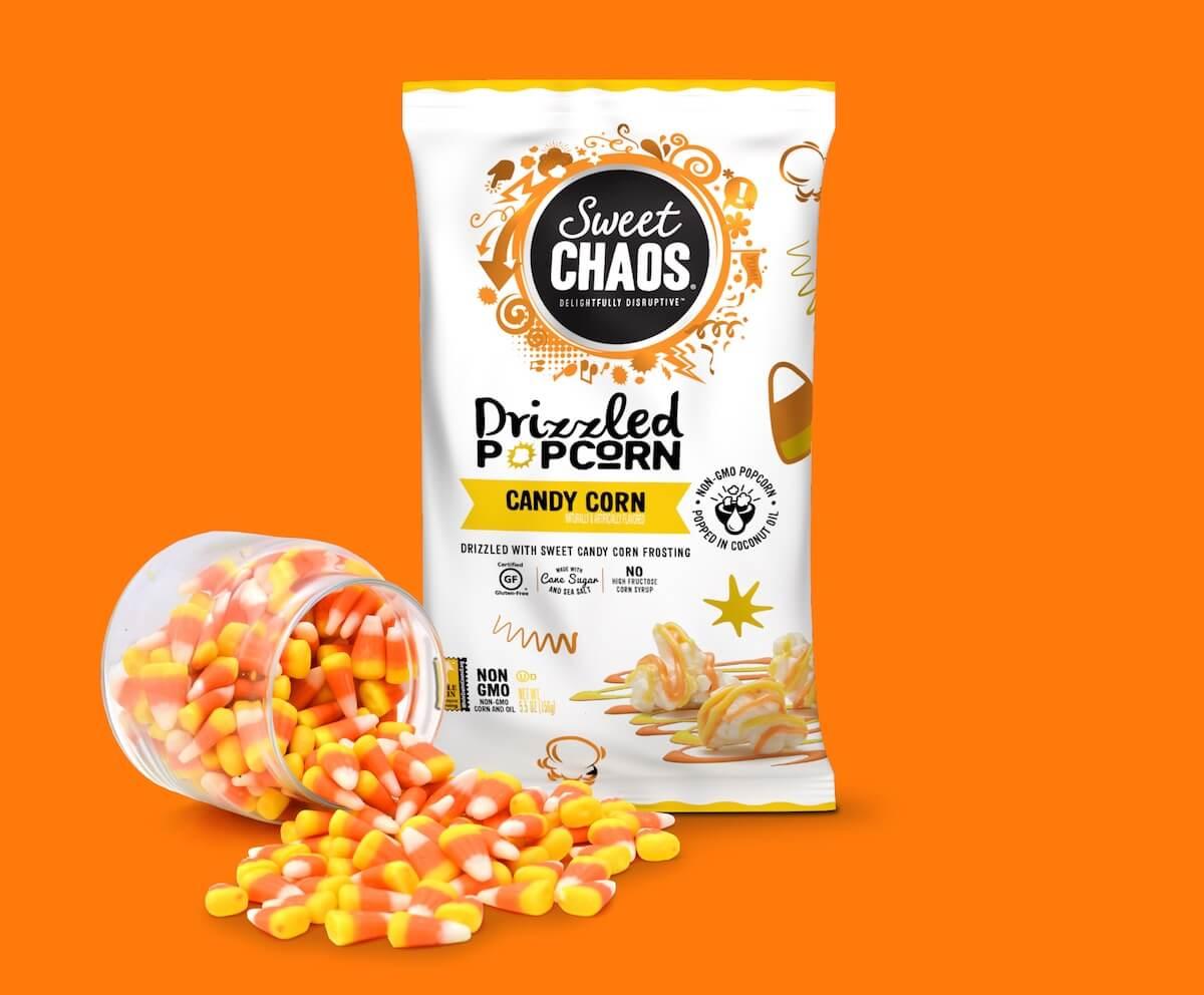 Sweet Chaos candy corn popcorn