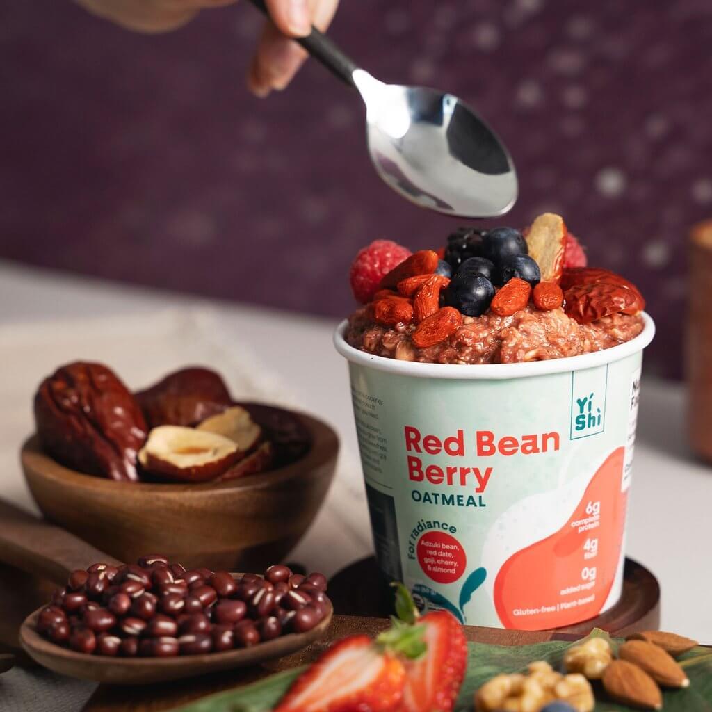 Yishi oatmeal red bean berry